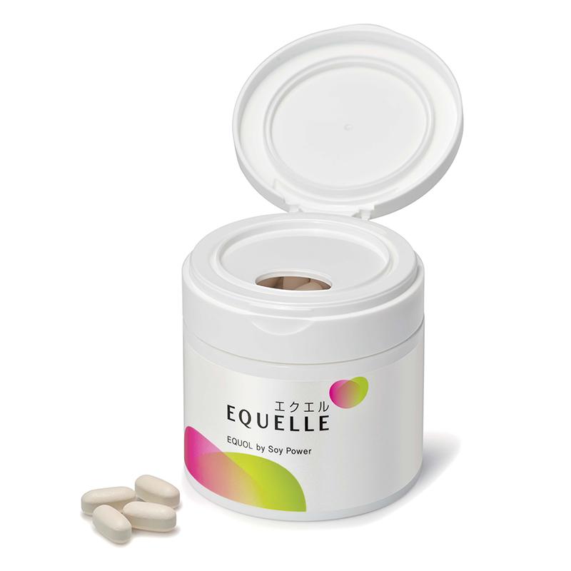 (1日4粒目安・28日分) 女性の更年期障害に伴う様々な不定愁訴に対し、ホルモン補充療法まで、敢えて希望しない人達が対象です。 女性ホルモン様作用が期待出来るサプリメントで、大豆イソフラボンを腸内細菌で発酵したエクオールを含有しています。